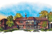 Home Plan - European Exterior - Rear Elevation Plan #1016-59