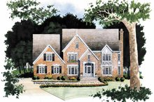 House Plan Design - Traditional Exterior - Front Elevation Plan #429-75