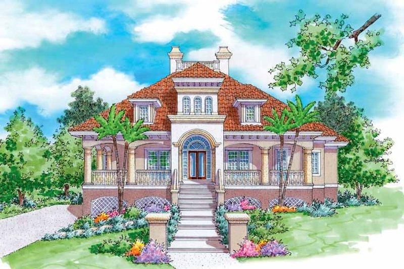 House Plan Design - Mediterranean Exterior - Front Elevation Plan #930-170