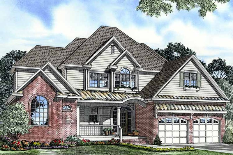 Traditional Exterior - Front Elevation Plan #17-3111 - Houseplans.com