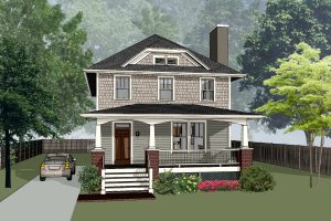 Craftsman Exterior - Front Elevation Plan #79-301