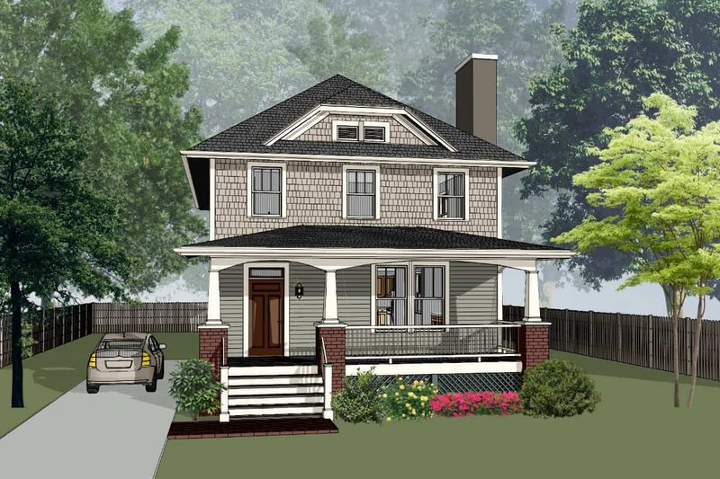 Dream House Plan - Craftsman Exterior - Front Elevation Plan #79-301