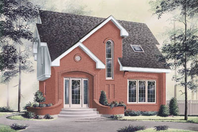 European Style House Plan - 3 Beds 2.5 Baths 1232 Sq/Ft Plan #23-215 Exterior - Front Elevation