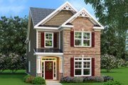 Craftsman Style House Plan - 3 Beds 2.5 Baths 1853 Sq/Ft Plan #419-178 Exterior - Front Elevation