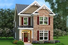 Dream House Plan - Craftsman Exterior - Front Elevation Plan #419-178