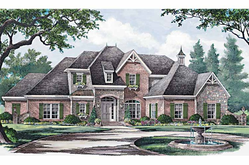 Country Exterior - Front Elevation Plan #952-183 - Houseplans.com