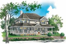Victorian Exterior - Front Elevation Plan #929-144