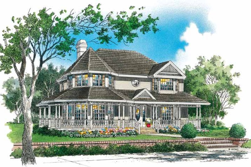 Architectural House Design - Victorian Exterior - Front Elevation Plan #929-144