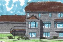 Architectural House Design - Classical Exterior - Rear Elevation Plan #320-1000