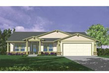 Country Exterior - Front Elevation Plan #509-143