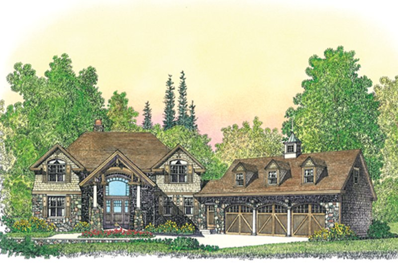 Craftsman Exterior - Front Elevation Plan #1016-109