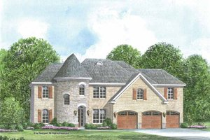 House Plan Design - European Exterior - Front Elevation Plan #952-204