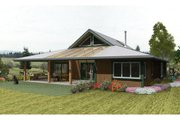 Country Style House Plan - 3 Beds 2 Baths 1920 Sq/Ft Plan #452-1 Exterior - Rear Elevation