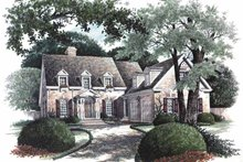 Colonial Exterior - Front Elevation Plan #429-64