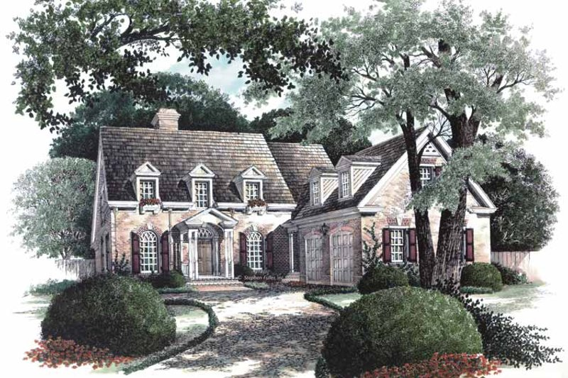 Colonial Exterior - Front Elevation Plan #429-64 - Houseplans.com