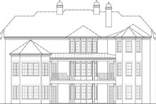 House Plan Design - European Exterior - Rear Elevation Plan #119-423