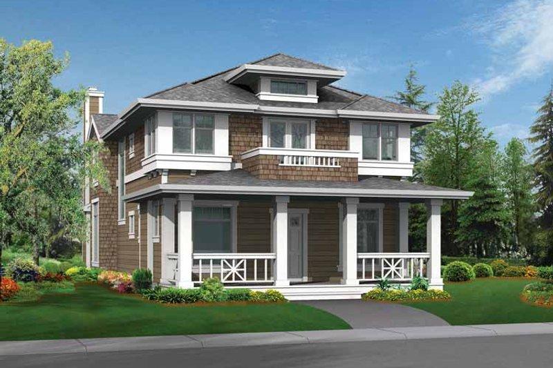 Craftsman Exterior - Front Elevation Plan #132-235