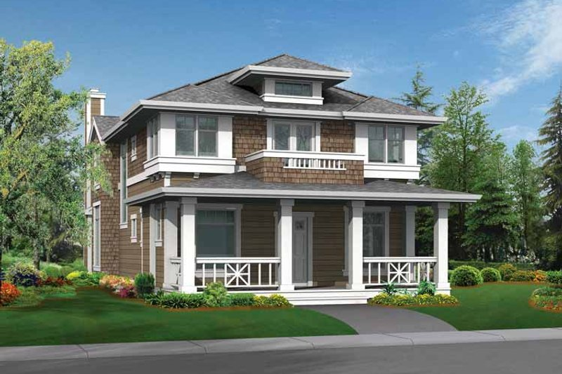 House Design - Craftsman Exterior - Front Elevation Plan #132-235