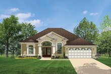 Home Plan - Mediterranean Exterior - Front Elevation Plan #1058-35