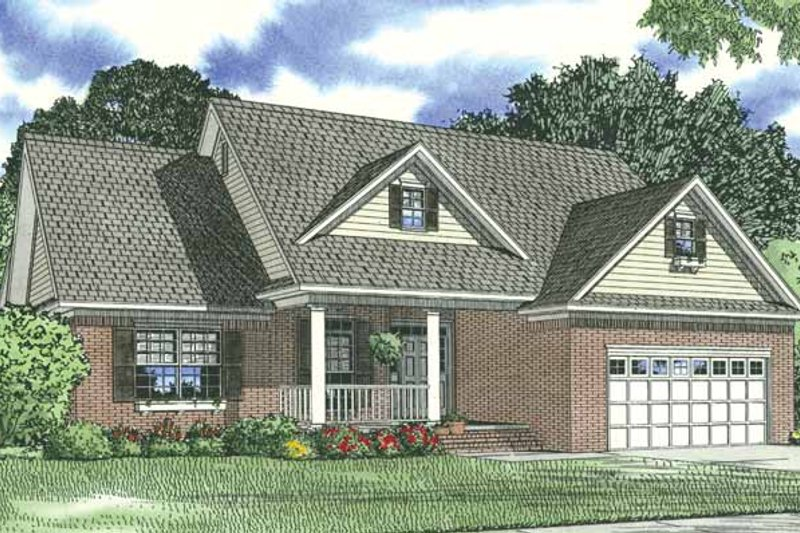 Traditional Exterior - Front Elevation Plan #17-2690 - Houseplans.com