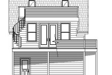 Cottage Exterior - Rear Elevation Plan #932-241