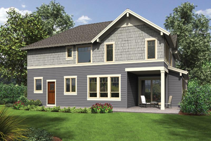 Craftsman Exterior - Rear Elevation Plan #48-914 - Houseplans.com