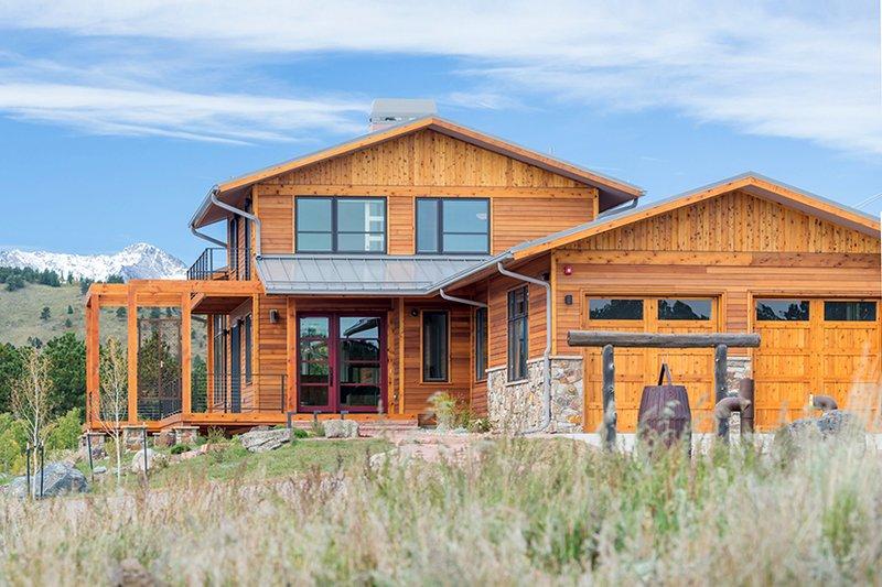 Prairie Exterior - Front Elevation Plan #1042-17 - Houseplans.com