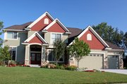 Traditional Style House Plan - 4 Beds 3.5 Baths 3500 Sq/Ft Plan #51-470 Exterior - Front Elevation
