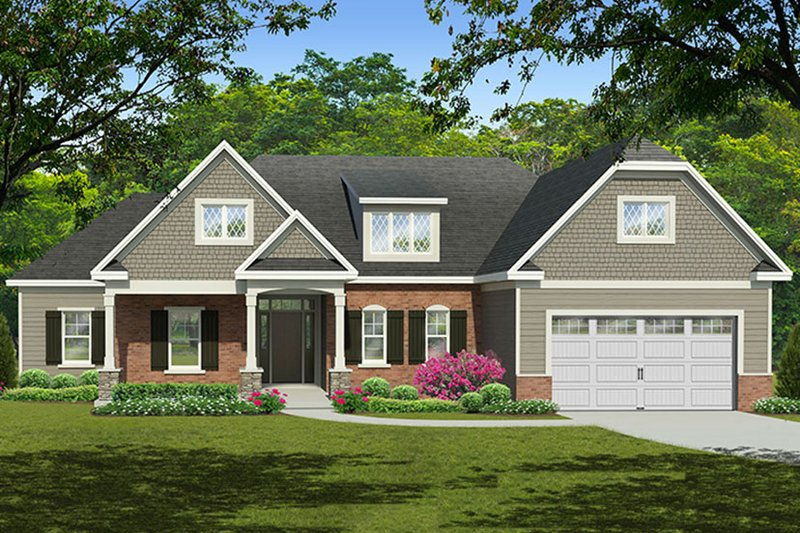 Dream House Plan - European Exterior - Front Elevation Plan #1010-146
