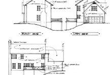 Colonial Exterior - Rear Elevation Plan #56-145