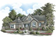 Craftsman Style House Plan - 4 Beds 4 Baths 3427 Sq/Ft Plan #929-861 Exterior - Front Elevation