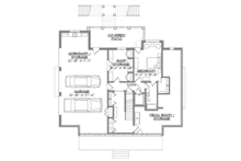 Southern Floor Plan - Lower Floor Plan Plan #1054-19