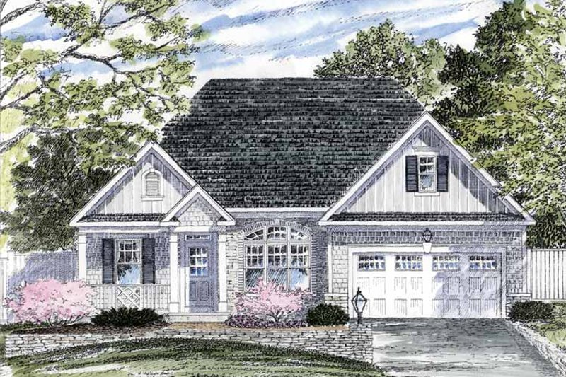 Ranch Exterior - Front Elevation Plan #316-254