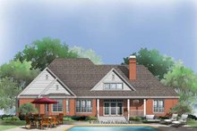 House Plan Design - Traditional Exterior - Rear Elevation Plan #929-772