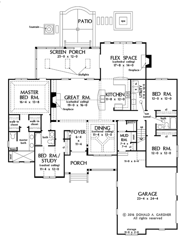Ranch Floor Plan - Main Floor Plan Plan #929-1018