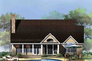 Craftsman Style House Plan - 3 Beds 2 Baths 2291 Sq/Ft Plan #929-972 Exterior - Rear Elevation