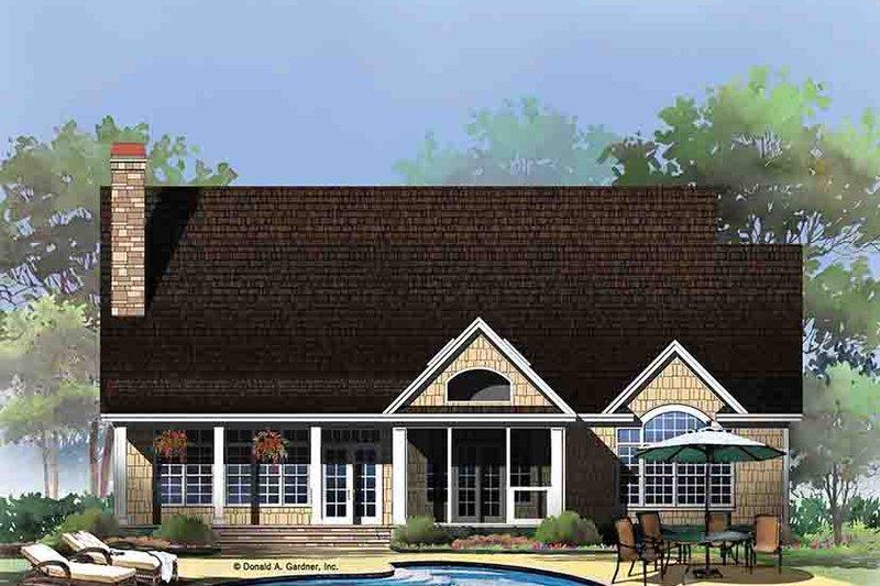 Craftsman Exterior - Rear Elevation Plan #929-972 - Houseplans.com
