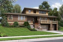 House Design - Prairie Exterior - Front Elevation Plan #48-922