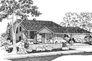 Traditional Exterior - Front Elevation Plan #303-177