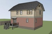 Craftsman Style House Plan - 3 Beds 2.5 Baths 1571 Sq/Ft Plan #79-297 Exterior - Other Elevation