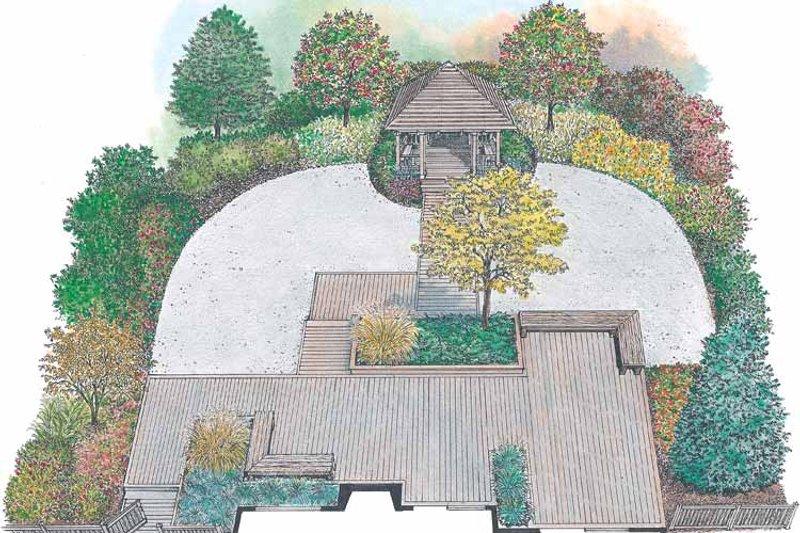 Exterior - Rear Elevation Plan #1040-100 - Houseplans.com