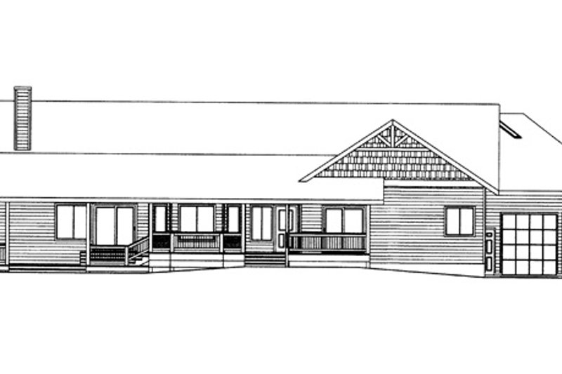 Ranch Exterior - Rear Elevation Plan #117-848 - Houseplans.com