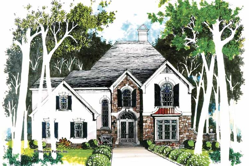 European Exterior - Front Elevation Plan #429-53 - Houseplans.com