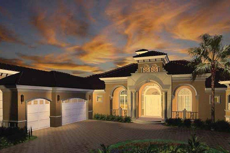 Dream House Plan - Mediterranean Exterior - Front Elevation Plan #1017-26