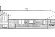 Architectural House Design - Prairie Exterior - Front Elevation Plan #60-1039