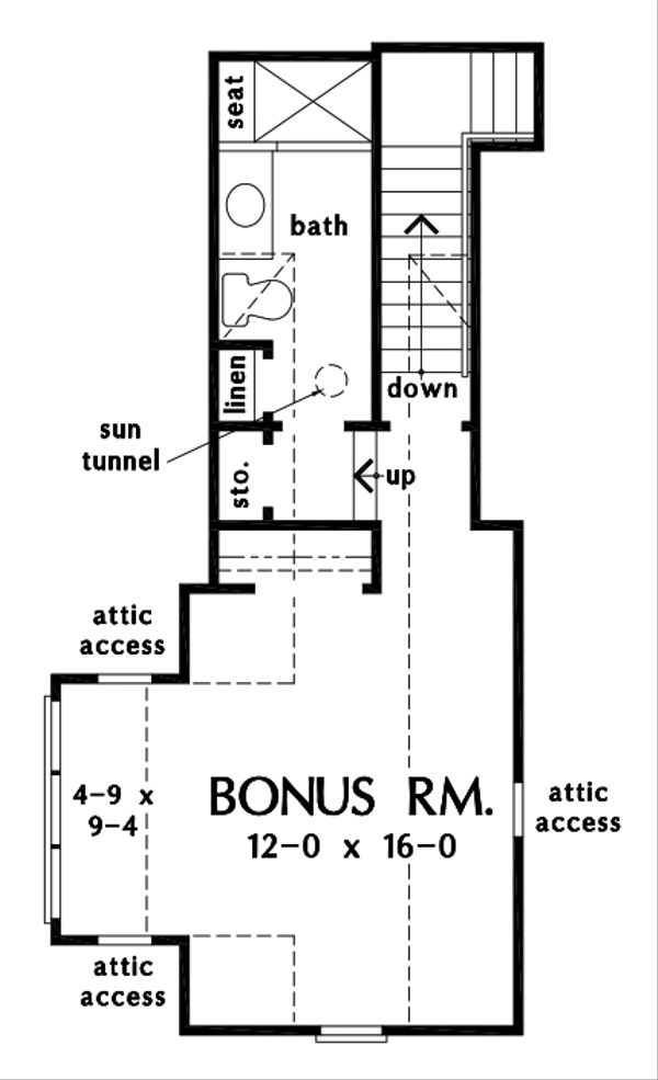Dream House Plan - Ranch Floor Plan - Upper Floor Plan #929-1090