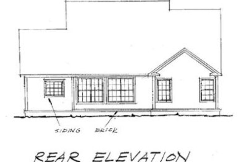 Traditional Exterior - Rear Elevation Plan #20-370 - Houseplans.com