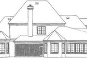 Traditional Style House Plan - 4 Beds 3.5 Baths 4182 Sq/Ft Plan #81-391 Exterior - Rear Elevation
