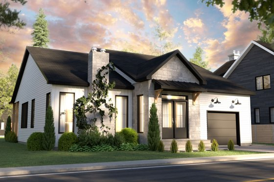 Craftsman Exterior - Front Elevation Plan #23-2733