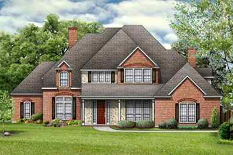 Traditional Exterior - Front Elevation Plan #84-156 - Houseplans.com